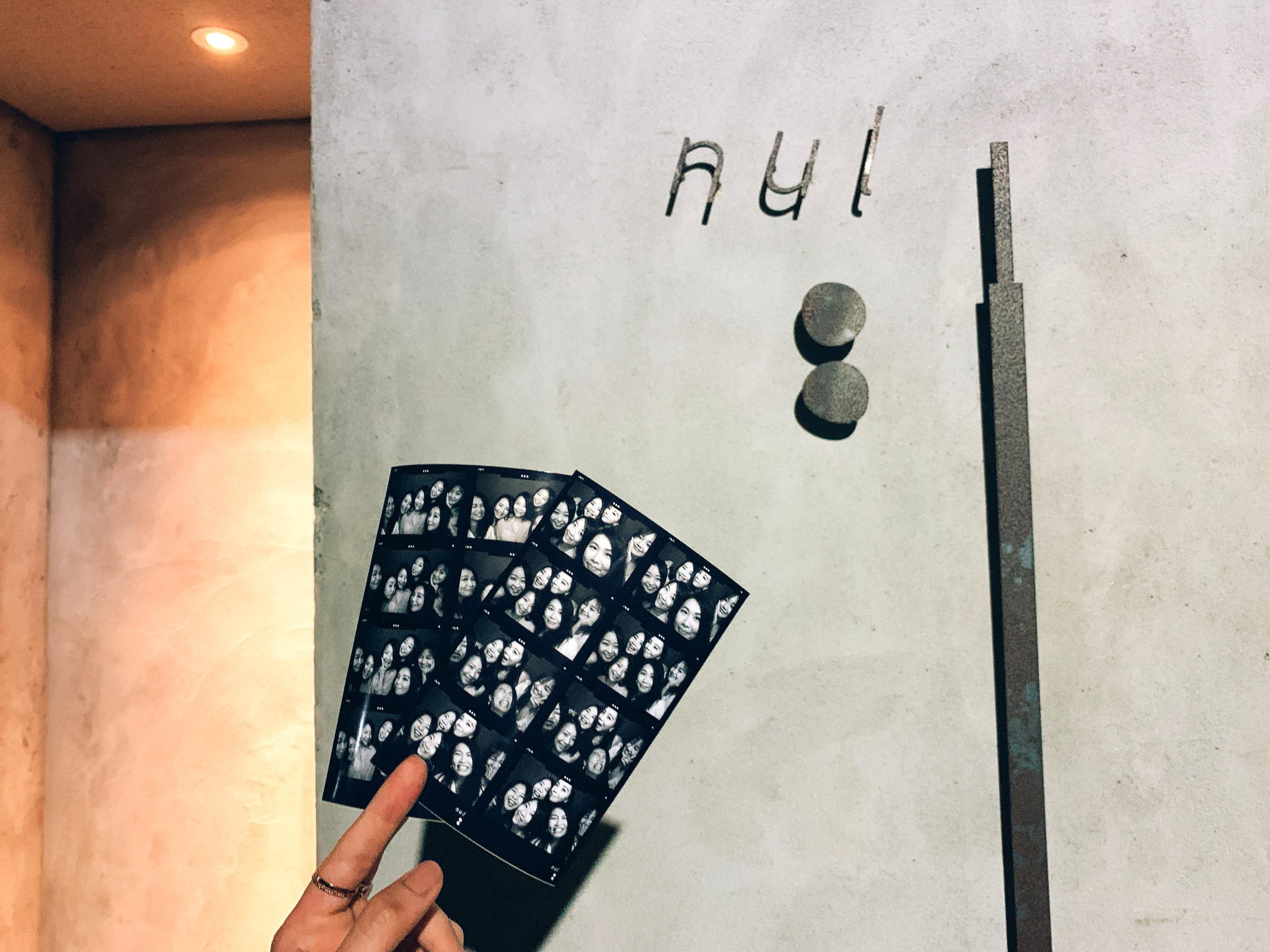 台北大安區|Nul Taipei 餐酒館推薦 8格黑白復古相片機留念